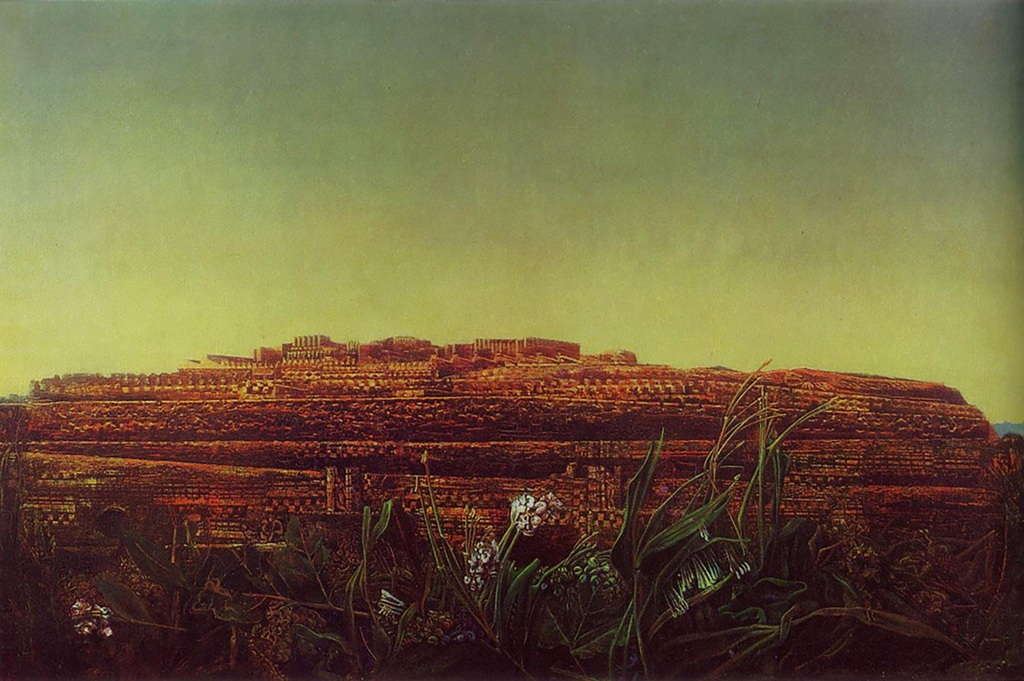 "Max Ernst, ""The Entire City"", oil on canvas 97x145cm, 1935"